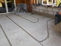 Channels in concrete floor